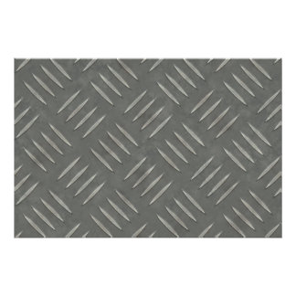 Diamond Plate Stainless Steel Textured Poster
