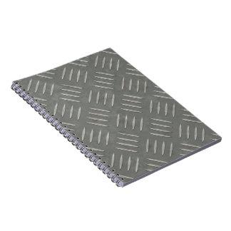 Diamond Plate Stainless Steel Textured Spiral Notebook