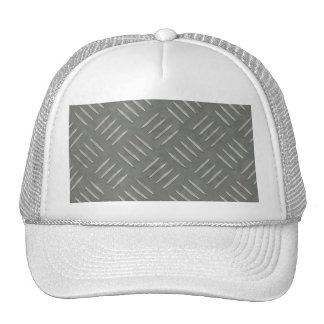 Diamond Plate Stainless Steel Textured Trucker Hat