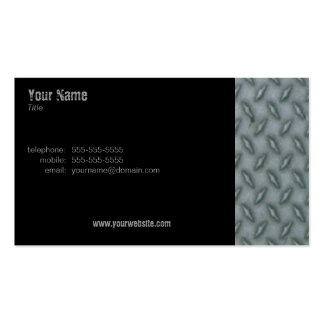 Diamond Plate Steel Double-Sided Standard Business Cards (Pack Of 100)
