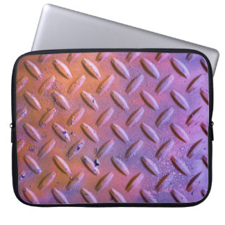 Diamond Plate Steel distressed Grunge orange Computer Sleeves