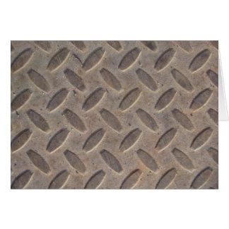 Diamond Plate Steel Floor Card