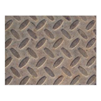 Diamond Plate Steel Floor Postcard