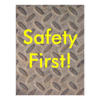Diamond Plate Steel Floor, Safety First! Flyer