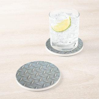 Diamond Plate Steel Sandstone Coaster