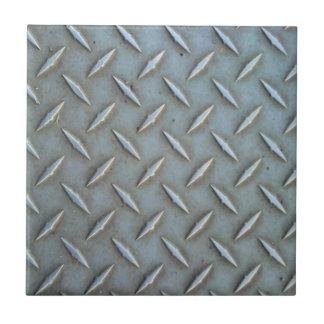 Diamond Plate Steel Small Square Tile