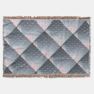 Diamond Plate Throw Blanket
