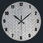 """Diamond Plate Wall Clock<br><div class=""""desc"""">Diamond Plate Wall Clock</div>"""