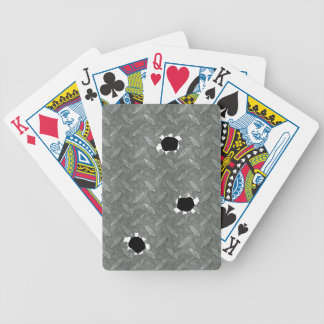 Diamond Plate With Bullet Holes Bicycle Playing Cards