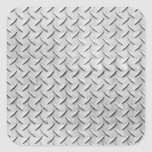 Diamond Plating Background Square Stickers