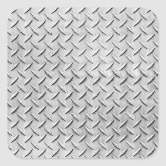 Diamond Plating Background Square Stickers