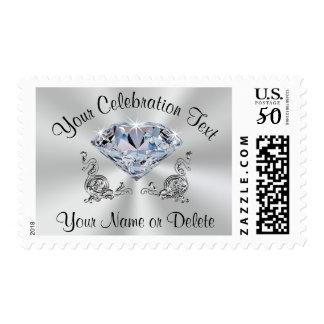 Diamond Postage Stamps, Birthday, Anniversary, etc