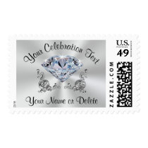Diamond Postage Stamps, Birthday, Anniversary, etc
