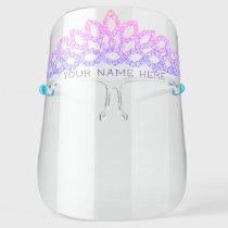 Diamond Princess Tiara - Add Your Name / Title - Face Shield