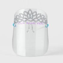 Diamond Princess Tiara - Add Your Name / Title  - Kids' Face Shield