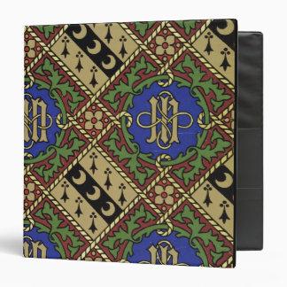Diamond print ecclesiastical wallpaper design 3 ring binder