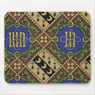 Diamond print ecclesiastical wallpaper design mouse pad