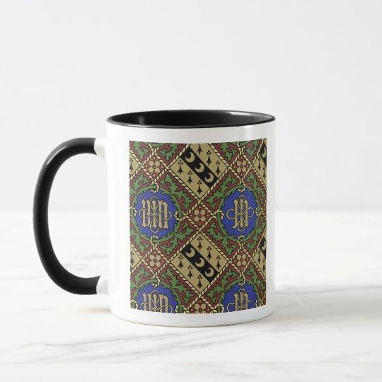 Diamond print ecclesiastical wallpaper design mug