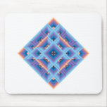 Diamond Quilt in Blue and Purple Mouse Pad