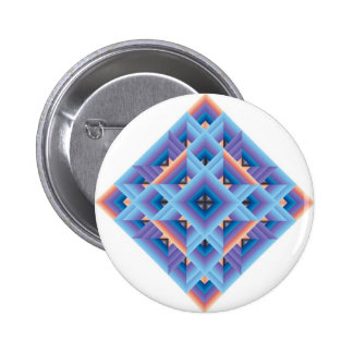 Diamond Quilt in Blue and Purple Pinback Button