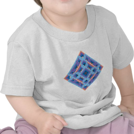 Diamond Quilt in Blue and Purple T Shirt