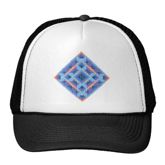 Diamond Quilt in Blue and Purple Trucker Hat