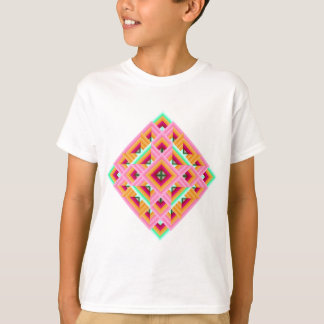 Diamond Quilt in Pink and Green T-Shirt