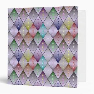 Diamond Quilt Pattern  3-Ring Binder