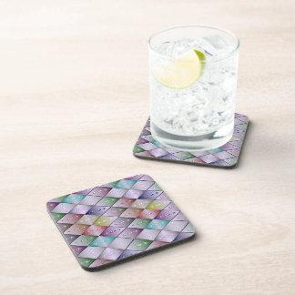 Diamond Quilt Pattern - Cork Coasters - Set of 6