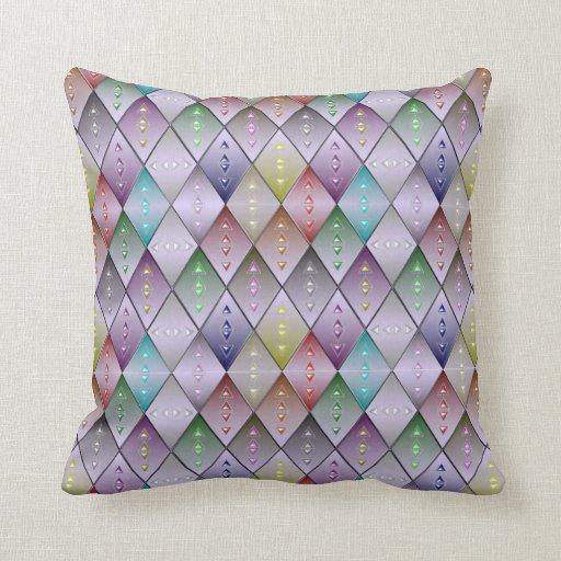 Throw Pillow Quilt Pattern : Diamond Quilt Pattern Cotton Throw Pillow 16x16 Zazzle