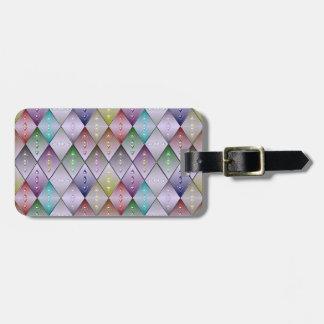 Diamond Quilt Pattern Custom Luggage Tag