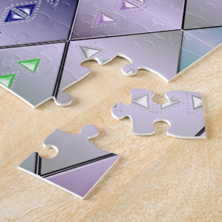 Diamond Quilt Pattern Jigsaw Puzzle 10x14