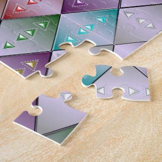 Diamond Quilt Pattern Jigsaw Puzzle w/ Gift Box