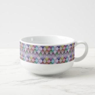 Diamond Quilt Pattern Soup Mug