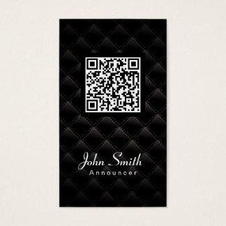 Diamond Quilt QR Code Announcer Business Card