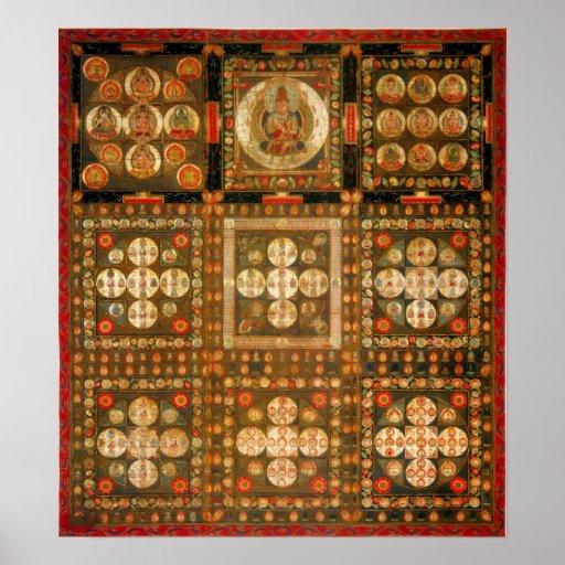 Diamond Realm Mandala Posters