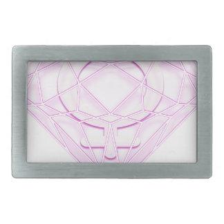 diamond rectangular belt buckle