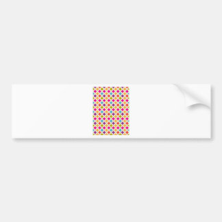 Diamond Retro Pattern Bold Modern Bumper Sticker
