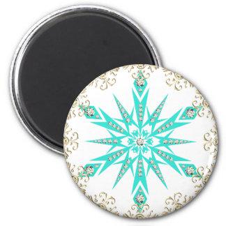 Diamond retro snowflake magnet