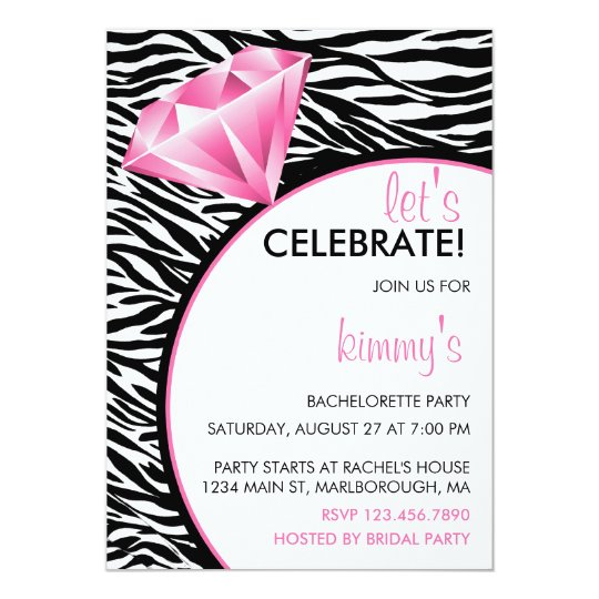 Diamond Ring Bling Bachelorette Party Card