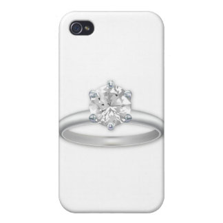 Diamond Ring Bling Clipart Graphic iPhone 4/4S Case