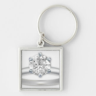 Diamond Ring Bling Clipart Graphic Keychain
