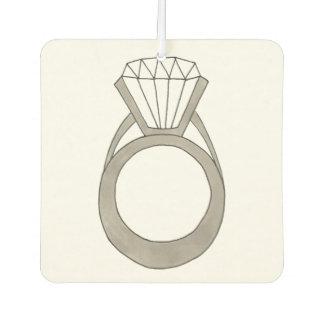 Diamond Ring Bling Jewelry Bride Fashionista Gift Car Air Freshener