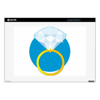 """Diamond Ring Decal For 15"""" Laptop"""