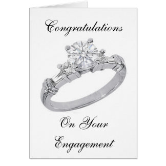 DIAMOND RING ENGAGEMENT CARD