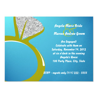 Diamond Ring Engagement Party Card