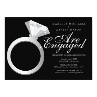 Diamond Ring | Engagement Party Invite