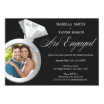 Diamond Ring Engagement Party Invite (Photo)
