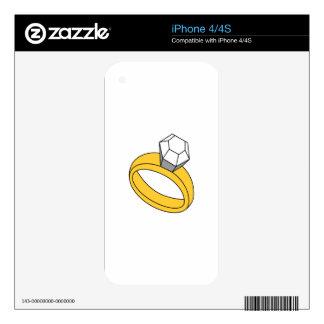 Diamond Ring iPhone 4 Skins