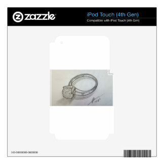 Diamond Ring iPod Touch 4G Decal